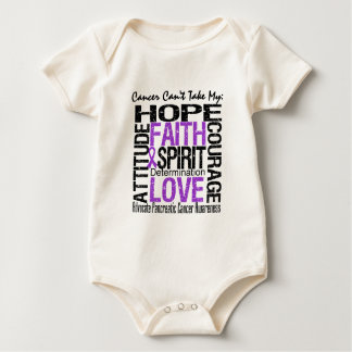 Cancer Can't Take My Hope Pancreatic Cancer Bodysuits