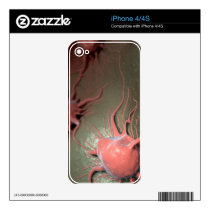 Cancer Cells Decal For iPhone 4S