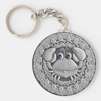 Cancer Coin basic button key chain