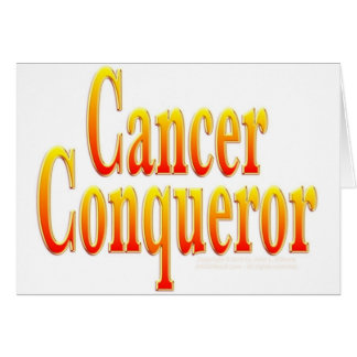 Cancer Conqueror Card