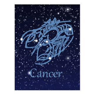 Cancer Constellation and Zodiac Sign with Stars Postcard