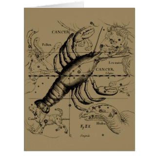Cancer Constellation by Hevelius circa 1690 Card