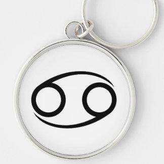 cancer crab greek astrology horoscope zodiac Silver-Colored round keychain