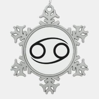 cancer crab greek astrology horoscope zodiac snowflake pewter christmas ornament