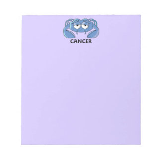 Cancer Crab Notepad