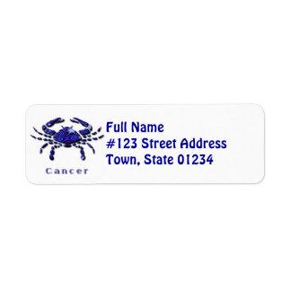 Cancer Crab Return Address Label