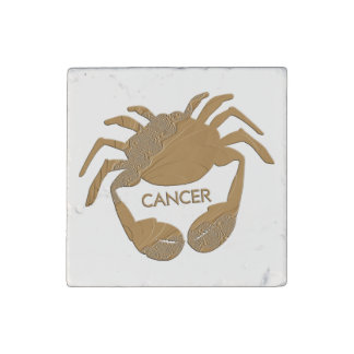 Cancer Crab Zodiac Stone Magnet