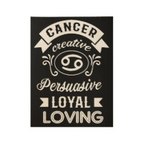 cancer creative 69 cancer t-shirts wood poster