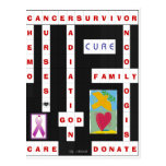 Cancer Crossword Post Cards