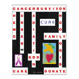 Cancer Crossword Postcard