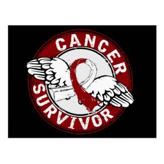 Cáncer de cabeza y cuello del superviviente 14 tarjeta postal