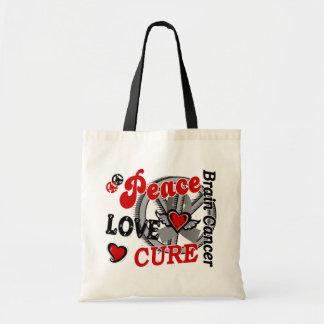 Cáncer de cerebro de la curación 2 del amor de la bolsa tela barata