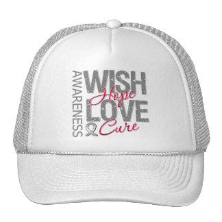 Cáncer de cerebro de la curación del amor de la es gorras