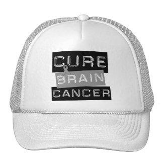 Cáncer de cerebro de la curación gorros bordados