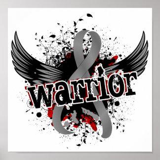 Cáncer de cerebro del guerrero 16 poster