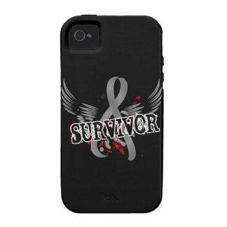 Cáncer de cerebro del superviviente 16 vibe iPhone 4 carcasas