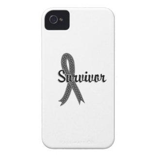 Cáncer de cerebro del superviviente 17 Case-Mate iPhone 4 carcasas