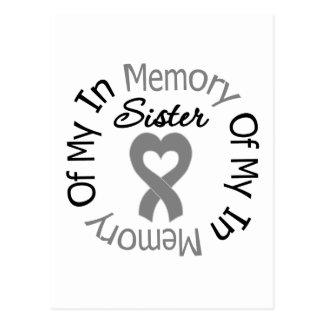 Cáncer de cerebro en memoria de mi hermana postales