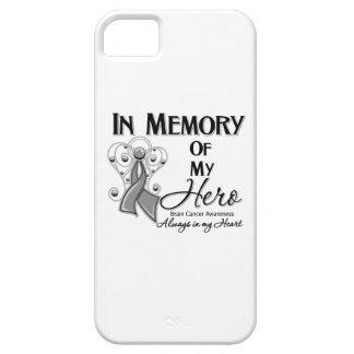 Cáncer de cerebro en memoria de mi héroe funda para iPhone 5 barely there
