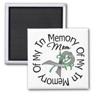 Cáncer de cerebro en memoria de mi mamá iman para frigorífico