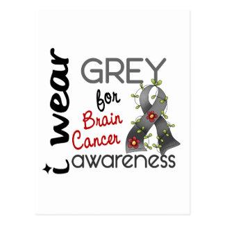 Cáncer de cerebro llevo el gris para la conciencia tarjetas postales