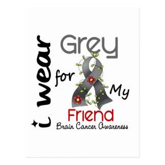 Cáncer de cerebro llevo el gris para mi amigo 43 tarjetas postales