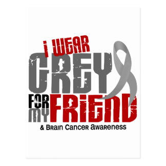 Cáncer de cerebro llevo el gris para mi amigo 6,2 postales