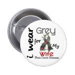 Cáncer de cerebro llevo el gris para mi esposa 43 pins