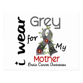 Cáncer de cerebro llevo el gris para mi madre 43 tarjetas postales