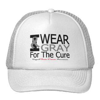 Cáncer de cerebro llevo la cinta gris para la cura gorras de camionero