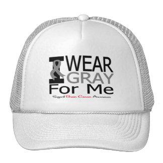 Cáncer de cerebro llevo la cinta gris para mí gorra