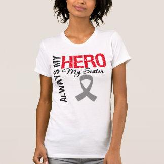 Cáncer de cerebro siempre mi héroe mi hermana camisetas