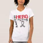 Cáncer de cerebro siempre mi héroe mi papá camiseta
