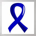 Cáncer de colon Blue Ribbon 3 Impresiones
