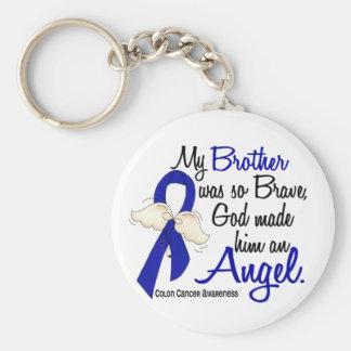 Cáncer de colon de Brother del ángel 2 Llaveros Personalizados