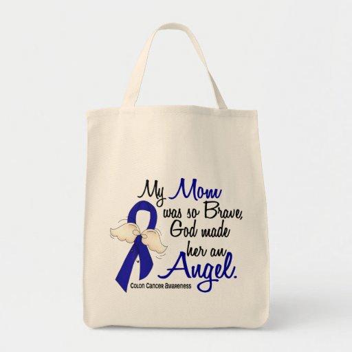 Cáncer de colon de la mamá del ángel 2 bolsa tela para la compra