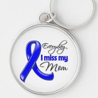 Cáncer de colon diario de Srta. My Mom de I Llavero Redondo Plateado