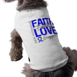 Cáncer de colon inspirador del collage del lema de playera sin mangas para perro