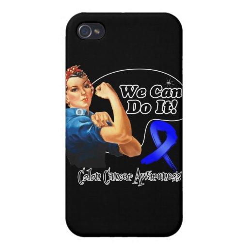 Cáncer de colon podemos hacerlo Rosie el remachado iPhone 4/4S Fundas