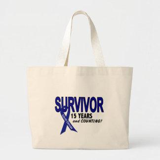 Cáncer de colon superviviente de 15 años bolsa tela grande