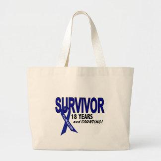 Cáncer de colon superviviente de 18 años bolsa tela grande