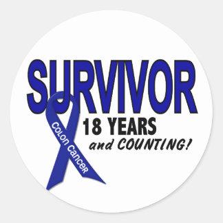 Cáncer de colon superviviente de 18 años etiqueta