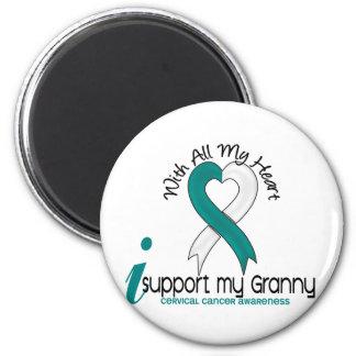 Cáncer de cuello del útero apoyo a mi abuelita imanes de nevera