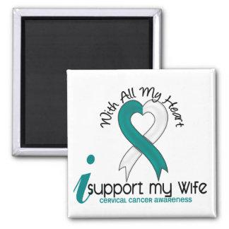 Cáncer de cuello del útero apoyo a mi esposa iman de nevera