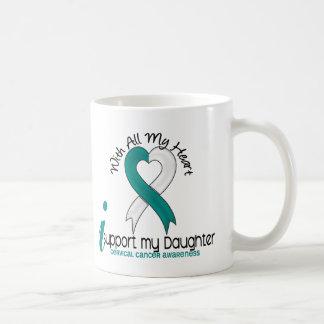 Cáncer de cuello del útero apoyo a mi hija taza de café