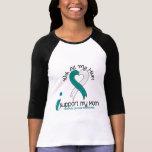 Cáncer de cuello del útero apoyo a mi mamá camiseta