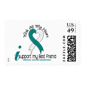 Cáncer de cuello del útero apoyo a mi mejor amigo sello postal