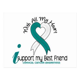 Cáncer de cuello del útero apoyo a mi mejor amigo tarjetas postales