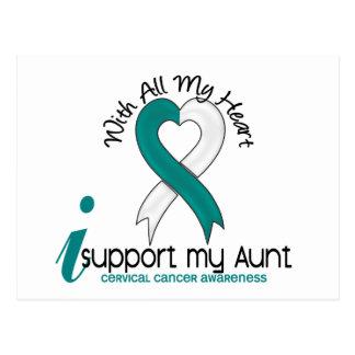Cáncer de cuello del útero apoyo a mi tía tarjeta postal