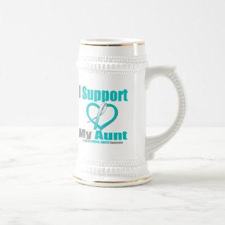 Cáncer de cuello del útero apoyo a mi tía jarra de cerveza